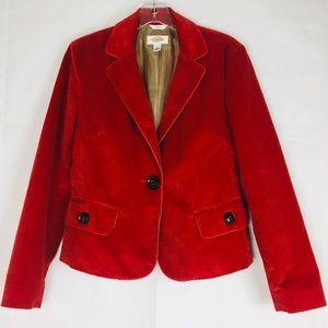TALBOTS WALE Corduroy Lined Career Jacket Blazer